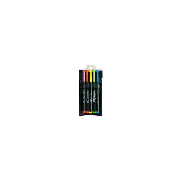 ☆ポイント5倍☆コクヨ (PM-L102-5S) 蛍光マーカー<プリフィクス>5色セット (3色セット+ライトブルー・オレンジ)
