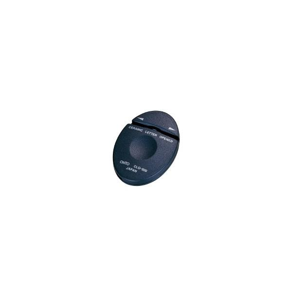 オート (CLO-500クロ) セラミックレターオープナー メールエッグ 黒 1枚切り W35×D8×H50mm