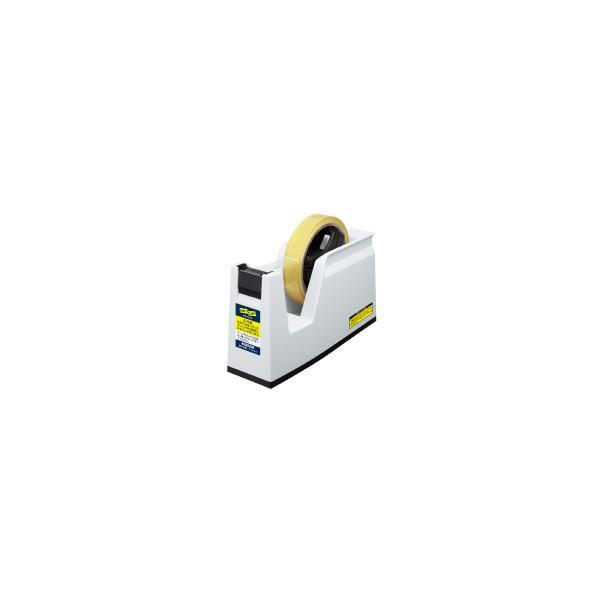 コクヨ(T-SM100NW)テープカッター<カルカット> 大巻き・小巻きテープ両用 白