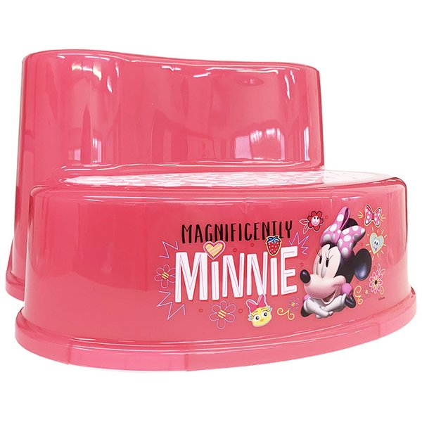 子供 2段 ステップ ディズニー ミニーマウス ピンク 滑り止め付き 女の子 踏み台 キャラクター ステップスツール
