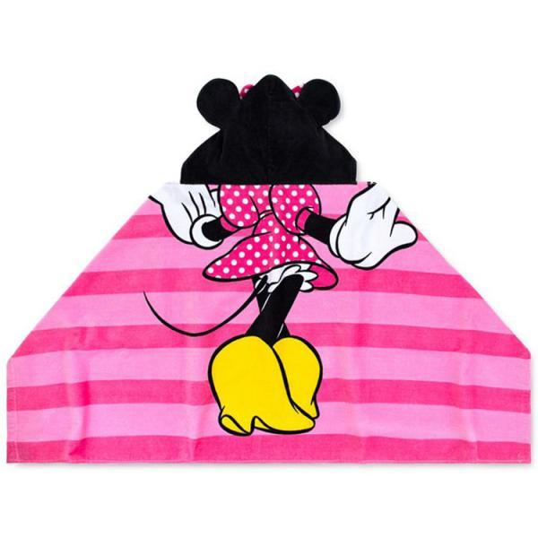 ラップタオル ディズニー ミニーマウス 巻きタオル フード付き 子供 ビーチタオル バスタオル フード付きタオル スイムタオル