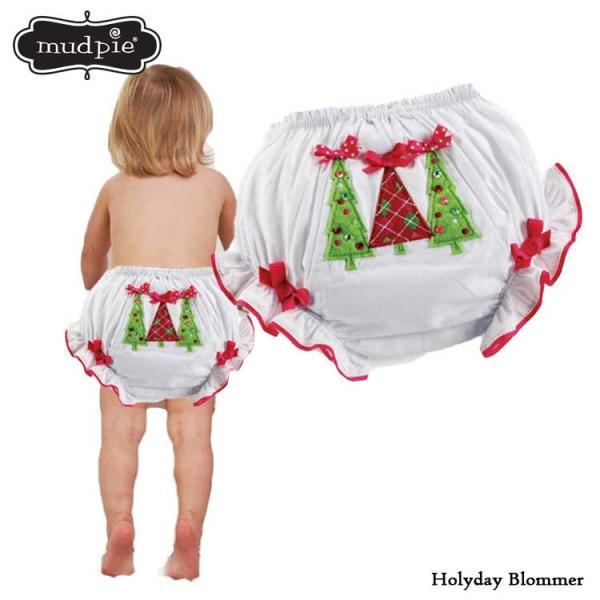 マッドパイ クリスマス ブルマー ベビー 12-18ヶ月 おむつカバー Mudpie 130250|paranino-formalstyle