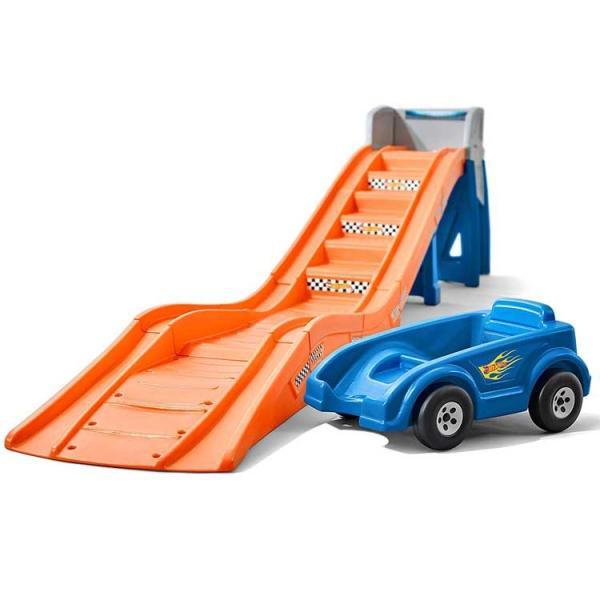 乗用玩具 おもちゃ 乗り物 車 ローラーコースター ホットウィール レール付き 遊具 STEP2 8628 /配送区分C|paranino-formalstyle