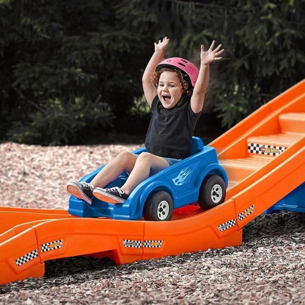 乗用玩具 おもちゃ 乗り物 車 ローラーコースター ホットウィール レール付き 遊具 STEP2 8628 /配送区分C|paranino-formalstyle|05