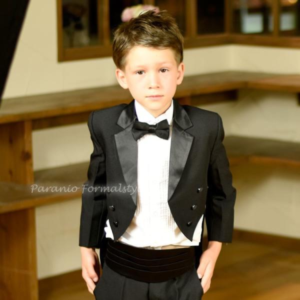 タキシード 子供 男の子 60-130cm ブラック 黒 フォーマル タキシード|paranino-formalstyle