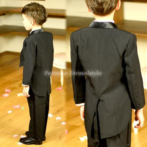 タキシード 子供 男の子 60-130cm ブラック 黒 フォーマル タキシード|paranino-formalstyle|04