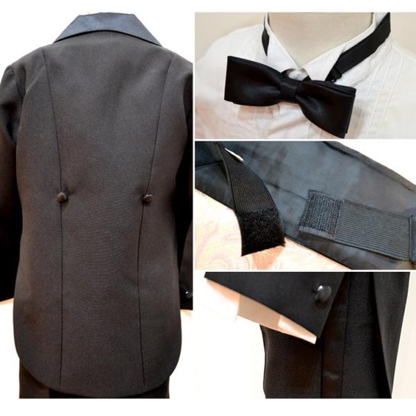 タキシード 子供 男の子 60-130cm ブラック 黒 フォーマル タキシード|paranino-formalstyle|05