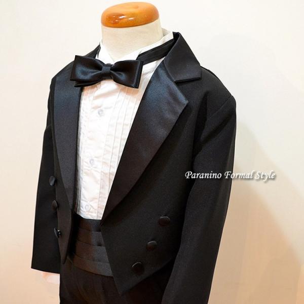 タキシード 子供 男の子 60-130cm ブラック 黒 フォーマル タキシード|paranino-formalstyle|06
