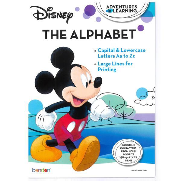 ワークブック アルファベット ディズニー キャラクター 英語 アルファベット練習帳 ドリル ミッキー プリンセス トイストーリー