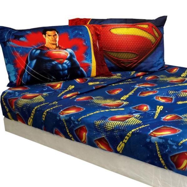 サマーセール/ スーパーマン シーツ&枕カバー 3点セット ツインサイズ シングル|paranino|02