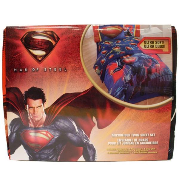 サマーセール/ スーパーマン シーツ&枕カバー 3点セット ツインサイズ シングル|paranino|03