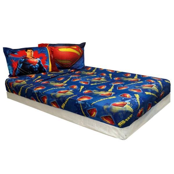 サマーセール/ スーパーマン シーツ&枕カバー 3点セット ツインサイズ シングル|paranino|04