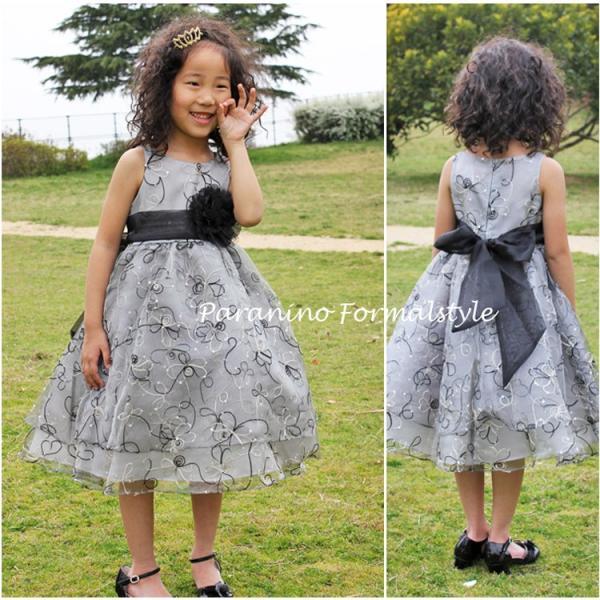 79bda3039a728 ... 子供 ドレス フォーマル 女の子 90-150cm ピンク ブラック ローレン paranino  ...