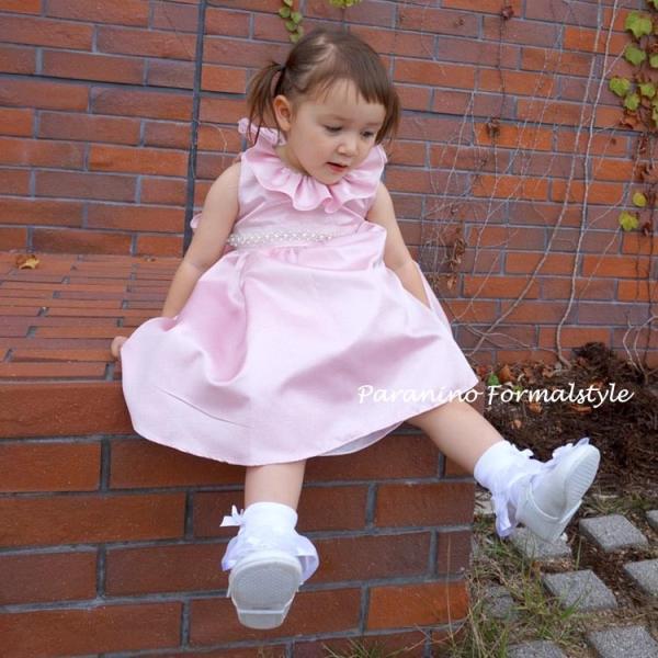 398e8b0e56312 ... ベビードレス フォーマル 女の子 60-90cm ピンク イリーナ|paranino| ...