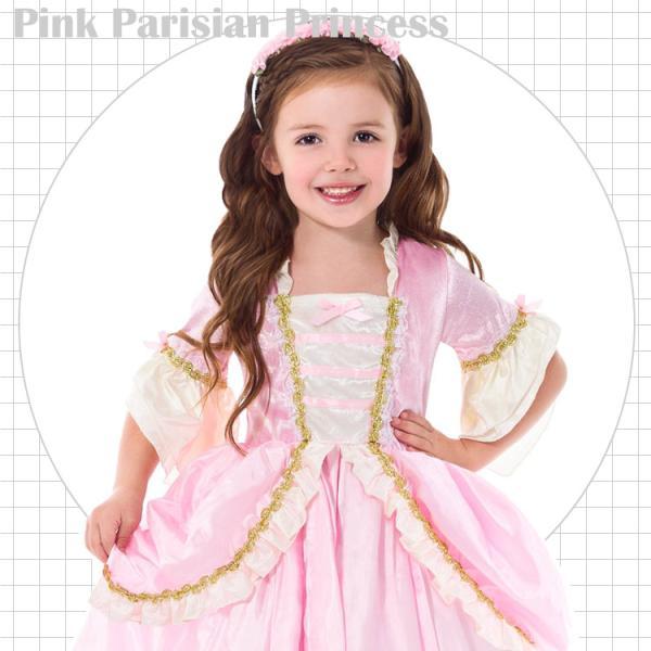 5f24767fd0130 ... プリンセス ドレス ピンク コスチューム 100-125cm 女の子 ハロウィン 仮装 子供 衣装 コスプレ paranino  ...