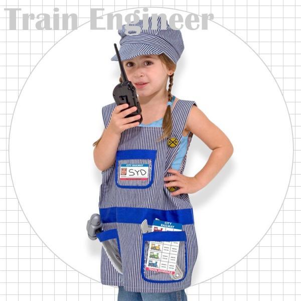 サマーセール/ エンジニア 電車 鉄道 コスチューム 3歳 4歳 5歳 6歳 小物付き メリッサ&ダグ ハロウィン 仮装 子供 衣装 コスプレ|paranino|02