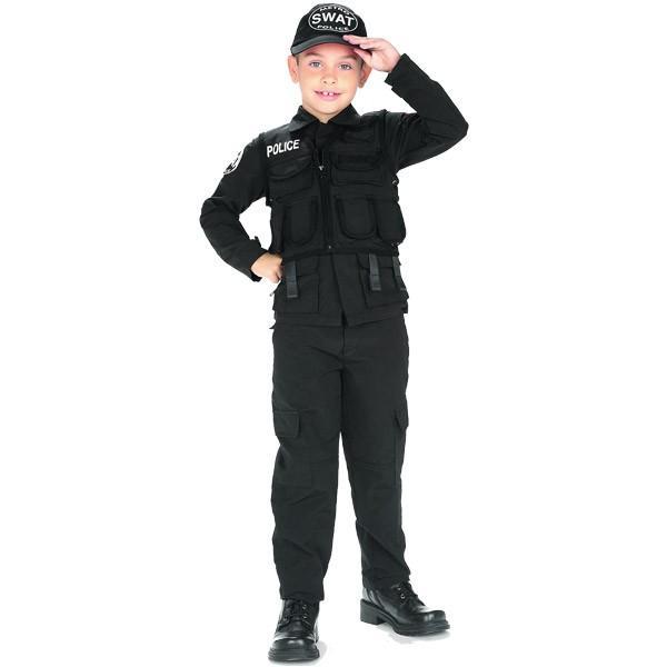 スワット ポリス コスチューム 男の子 90-150cm ハロウィン 仮装 子供 衣装 コスプレ|paranino|02