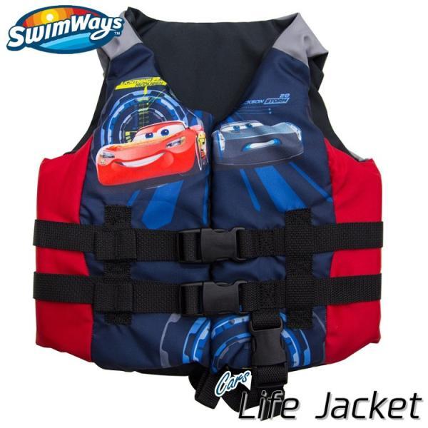増税前SALE/ 子供用 ライフジャケット ディズニー カーズ 3歳から アメリカ沿岸警備隊公認 キッズ ライフベスト キャラクター SwimWays|paranino