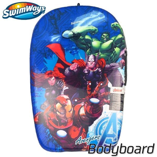 増税前SALE/ ボディボード ディズニー アベンジャーズ 27インチ 5歳から 子供 ソフトボード キッズ リーシュセット サーフィン Swimways paranino