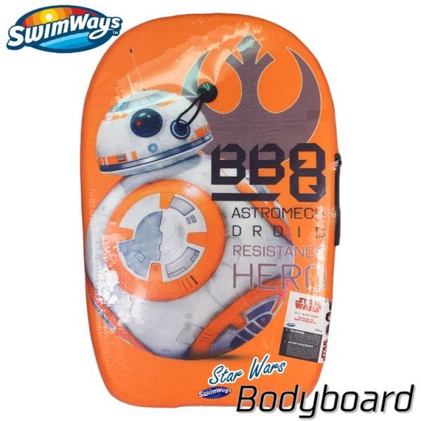 増税前SALE/ ボディボード ディズニー スターウォーズ BB8 27インチ 5歳から 子供 ソフトボード キッズ リーシュセット サーフィン Swimways|paranino