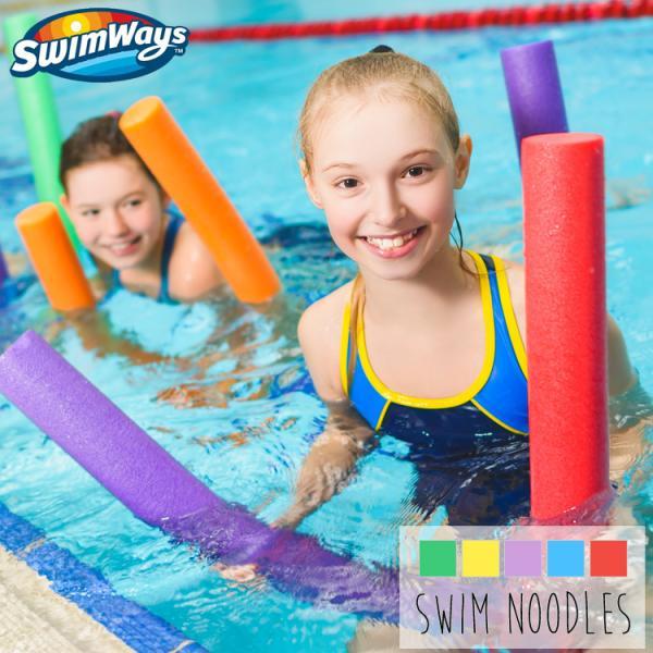 プールヌードル 浮く棒 スイムヌードル プールスティック 水泳 全5色 138cm 子供 大人 SwimWays|paranino