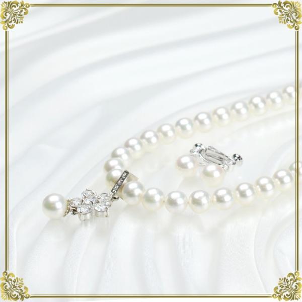 ネックレスレンタル 4日間 真珠 デザイン ネックレスイヤリングセット 001 あこや パール 往復送料無料 partners-rental 06