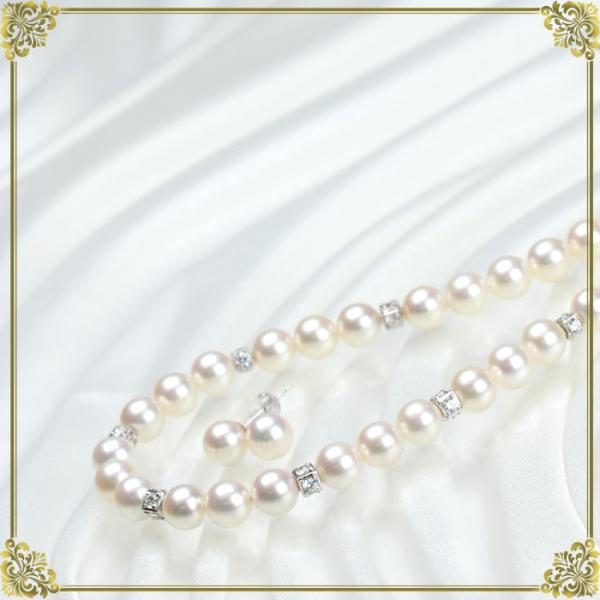ネックレスレンタル 4日間 真珠 デザイン ネックレスイヤリング ピアスセット 003 あこや パール 往復送料無料|partners-rental|06