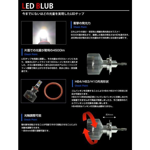 HIDより明るい LED ヘッドライト フォグランプ 9000lm H4 H8 H11 H16 HB4 HB3 送料無料 動画有り|parts-com|05