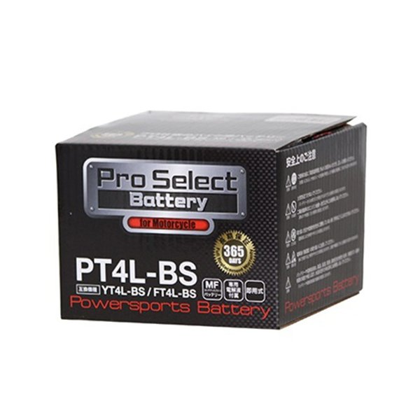 Pro Select Battery(プロセレクトバッテリー)  PSB001 【1個売り】PT4L-BS (YT4L-BS互換)|parts-department