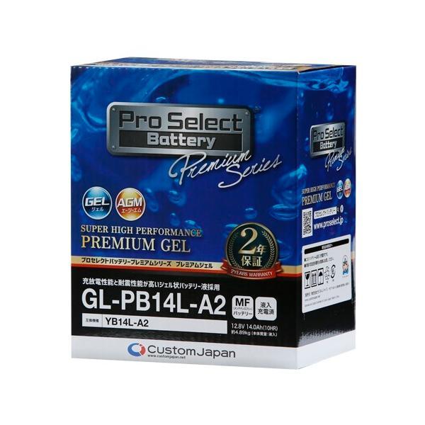 Pro Select Battery(プロセレクトバッテリー)  PSB133 GL-PB14L-A2 (YB14L-A2 互換)(ジェルタイプ 液入り充電済み)|parts-department