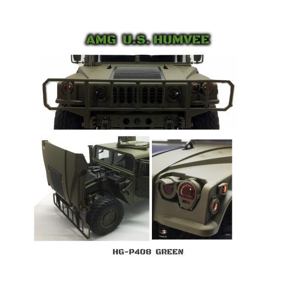 HG P408(STD)スタンダードKit 1/10 HUMVEE ハンヴィー(GREEN) 組立済 2.4Ghz 本格ホビーラジコン 4x4軍用車 HUMMER デルタフォース DEVGRU|parts758|04