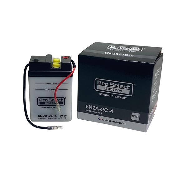 ProSelect(プロセレクト) バイクバッテリー 6N2A-2C-4 液入り充電済み 1個|partsdirect