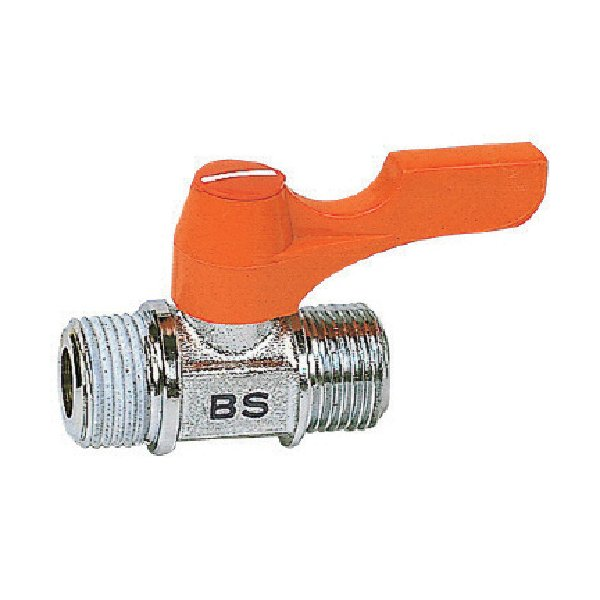 取寄 BS1021 エースボール 外X外ネジ型 PT1/4XPF1/8 ASOH(アソー) 1個