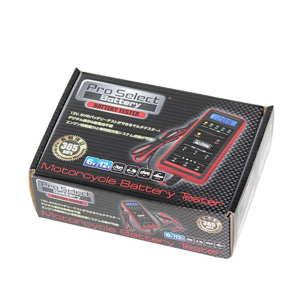 BC018 バイク用バッテリーテスター Pro Select Battery(プロセレクトバッテリー) 1個|partsdirect