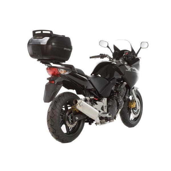 バイク トップケース リアボックス 40L キャリア付 SH40CG CARGO(カーゴ) 無塗装ブラック ボックスの上がキャリアとしても使...|partsdirect|02