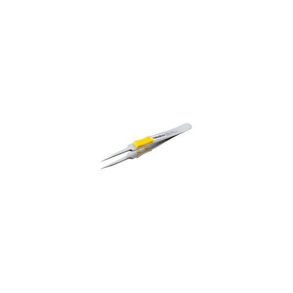 取寄 極細鋭型 TSP-214 ラバーグリップ付ステンレスピンセット TSP-214 TRUSCO(ト