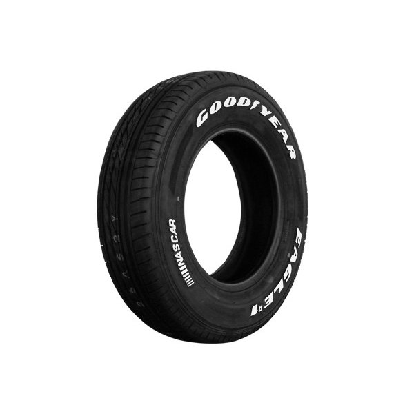 ハイエース 200系 タイヤセット デイトナ 15インチ×6.5J + 40 ブラック + Good Year EAGLE #1 NASCAR 195/80R15 ホワイトレター【送料無料】|partspark|02