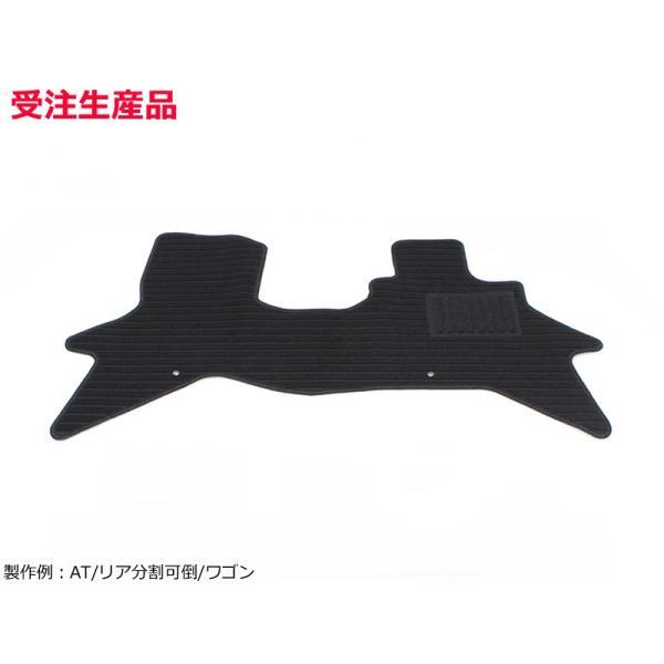 「オーダー」 即納 日本製 エブリイ DA17V DA17W フロアマット フロントのみ カーマット エコノミー 黒 ブラック マット スズキ*