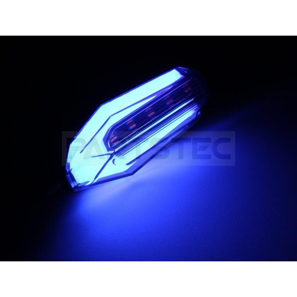 バイク 汎用 LEDウインカー 2個 ブルー ポジション デイライト CB1300SF XJR1300 バンディット1250 GSX1400 ZRX1200 DAEG Z900RS 他 93-67|partstec|03