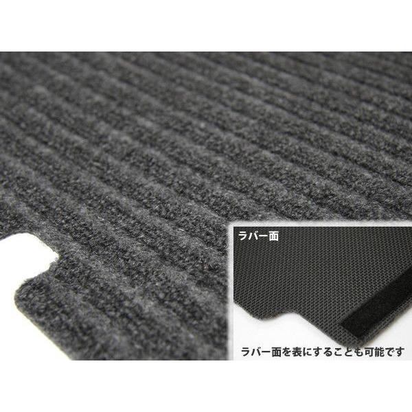 「日本製」 オーダーマット ハイゼットカーゴ S330V S320V S321V カーゴマット ブラック 黒 リバーシブルタイプ 荷台マット 荷台シート 荷室マット|partstec|02