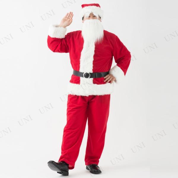 サンタ コスプレ 仮装 衣装 クリスマス 大人用 豪華サンタクロースセット メンズ|party-honpo|02