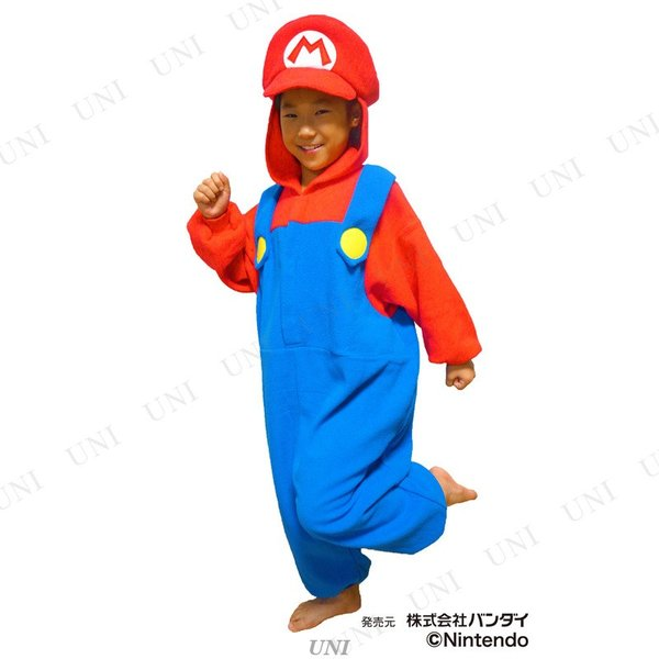 コスプレ 仮装 SAZAC(サザック) フリース着ぐるみ スーパーマリオ マリオ 子供用 130|party-honpo|02
