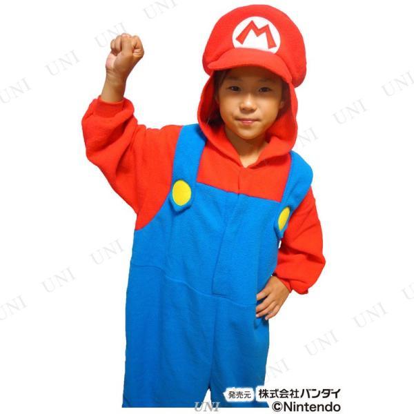 コスプレ 仮装 SAZAC(サザック) フリース着ぐるみ スーパーマリオ マリオ 子供用 130|party-honpo|03