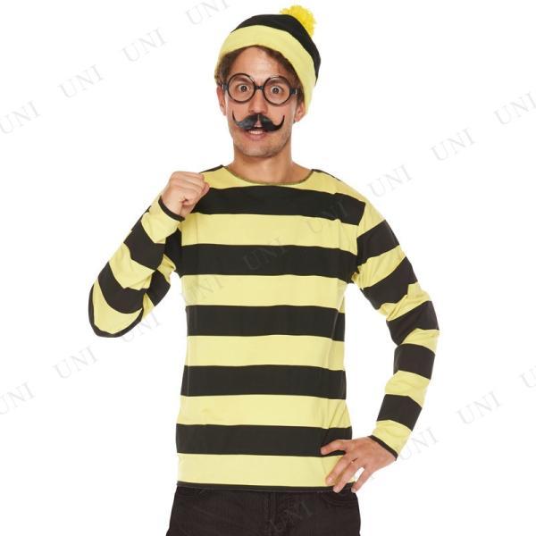 大人用オドロー ハロウィン 衣装 仮装衣装 コスプレ コスチューム 男性用 メンズ パーティーグッズ キャラクター ウォーリーをさがせ ウォーリーを探|party-honpo|04