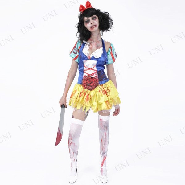 ZOMBIE COLLECTION Zombie Snow White (ゾンビ白雪姫) 仮装 グッズ コスプレ 衣装 ハロウィン 大人 女性|party-honpo|02