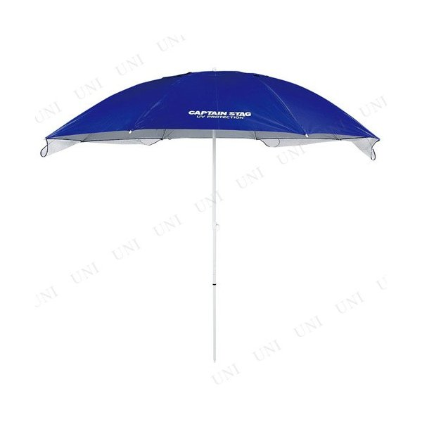 CAPTAIN STAG(キャプテンスタッグ) フリット UVカットウイングパラソル240cm(ブルー)|party-honpo|03
