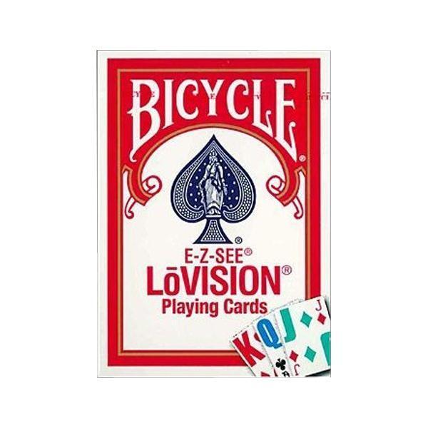 プレイングカード バイスクル  ロービジョン 赤(弱視者用) PC125A文字大きい マジック ゲーム 割引不可