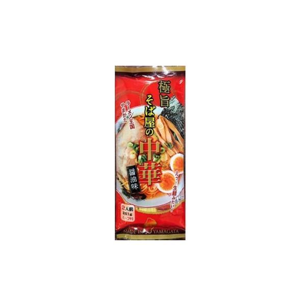 メーカ直送品・代引き不可 みうら食品 極旨そば屋の中華醤油味 251g(麺180g)×20袋 割引不可