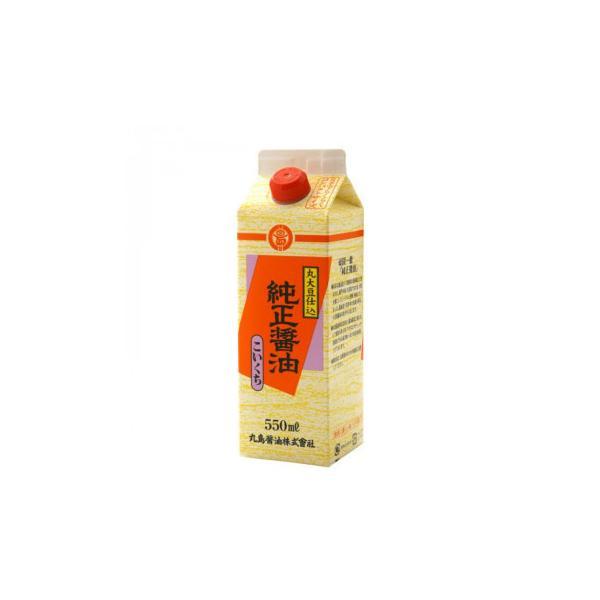 メーカ直送品・代引き不可 丸島醤油 純正醤油(濃口) 紙パック 550mL×4本 1234 割引不可