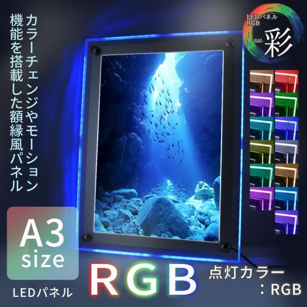 LEDパネル RGB A3 店舗ディスプレイ 送料無料|pascalstore